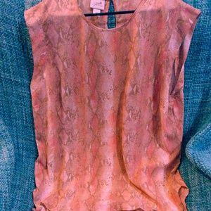 Jacklyn Smith Sleeveless Blouse. Great snake skin